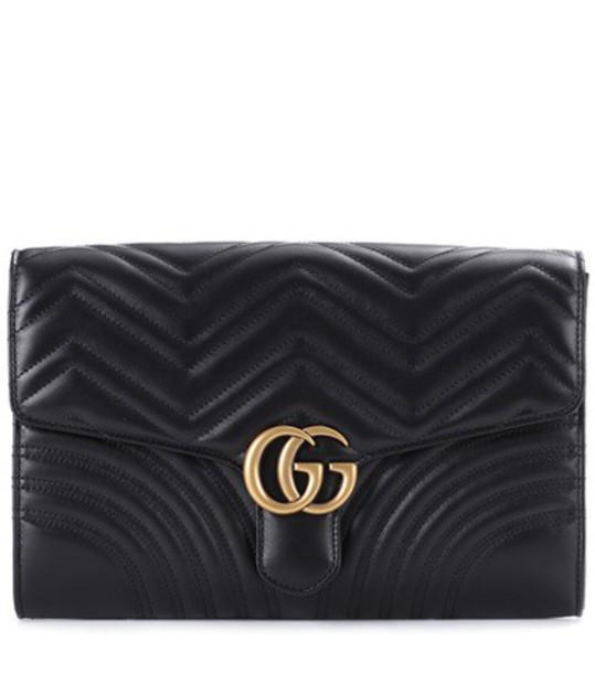 gucci leather clutch clutch leather black bag