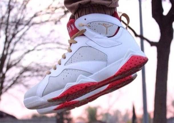 shoes white jordans jordans cool style sneakers dope swag red