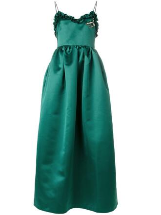 dress embellished dress women embellished green