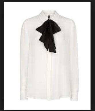 fashion blouse classy pussybow work whiteshirt trendy