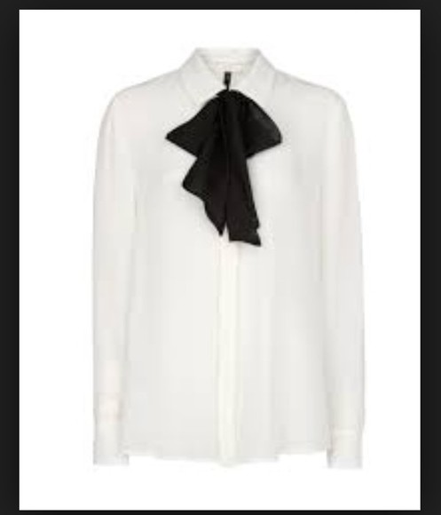 work classy blouse pussybow whiteshirt fashion trendy need it in my life