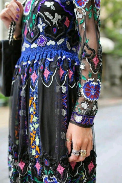 dress boho chic eclectic