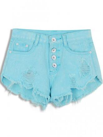 shorts summer shorts casual pockets washed hole button wide-leg pants