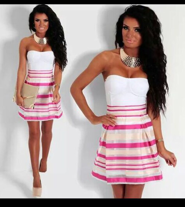 skirt picnic pink and cream mesh overlay skater skirt pink boutique