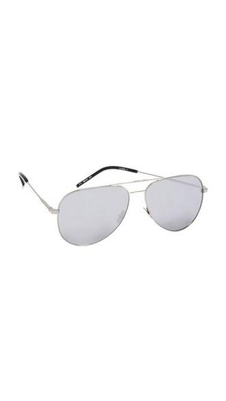 oversized classic sunglasses silver