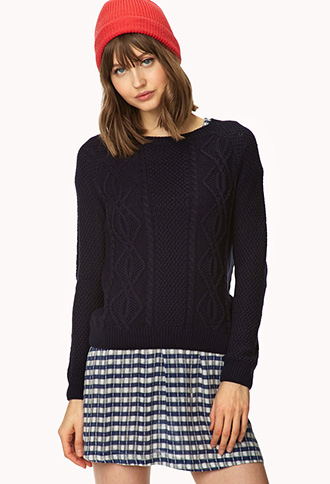 Favorite Cable Knit Sweater | FOREVER21 - 2000065032