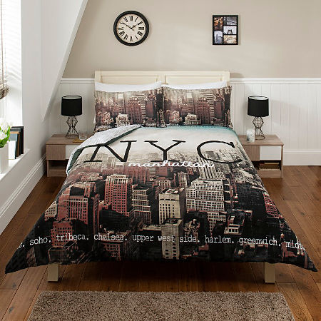 New York Skyline Bedding Double