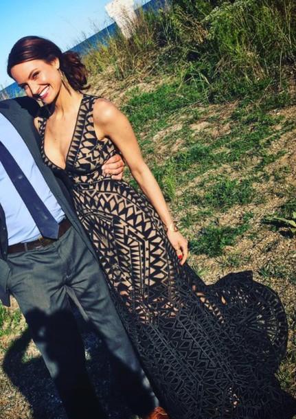 dress gown prom dress black dress