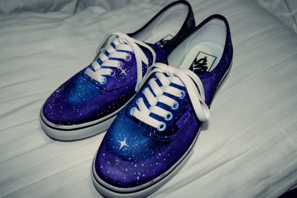 4e4232c2d289 shoes vans vans vans galaxy print Vans galaxy galaxy vans cosmic stars flats  pumps pumps