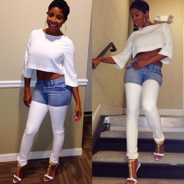 jeans white denim