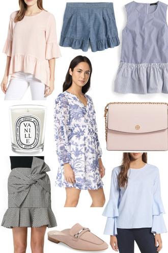 lemon stripes blogger shirt shorts top bag dress skirt