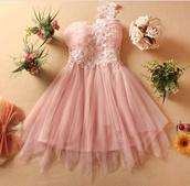 dress,pink,prom dress,roses