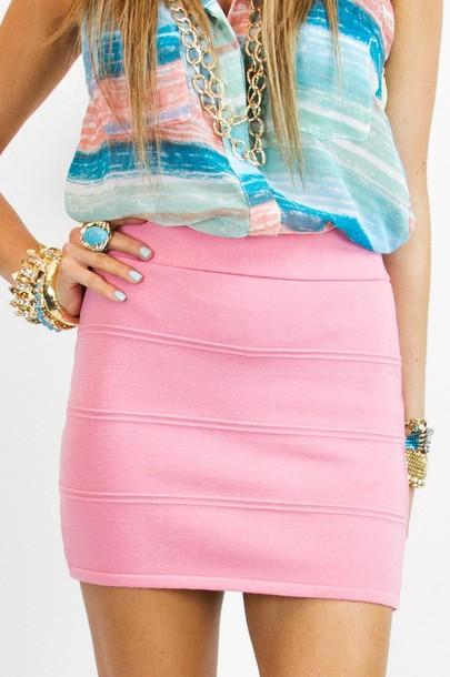 skirt blue pencil skirt pastel light