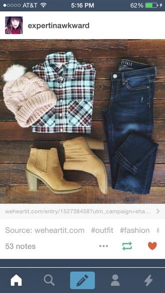 shirt plaid skirt flannel shirt flannel boots jeans denim jacket denim shorts style fashion fall sweater summer dress winter sweater