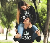 sweater,queen and king,black sweate,couple sweaters