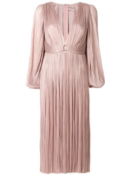 Maria Lucia Hohan dress women spandex silk purple pink