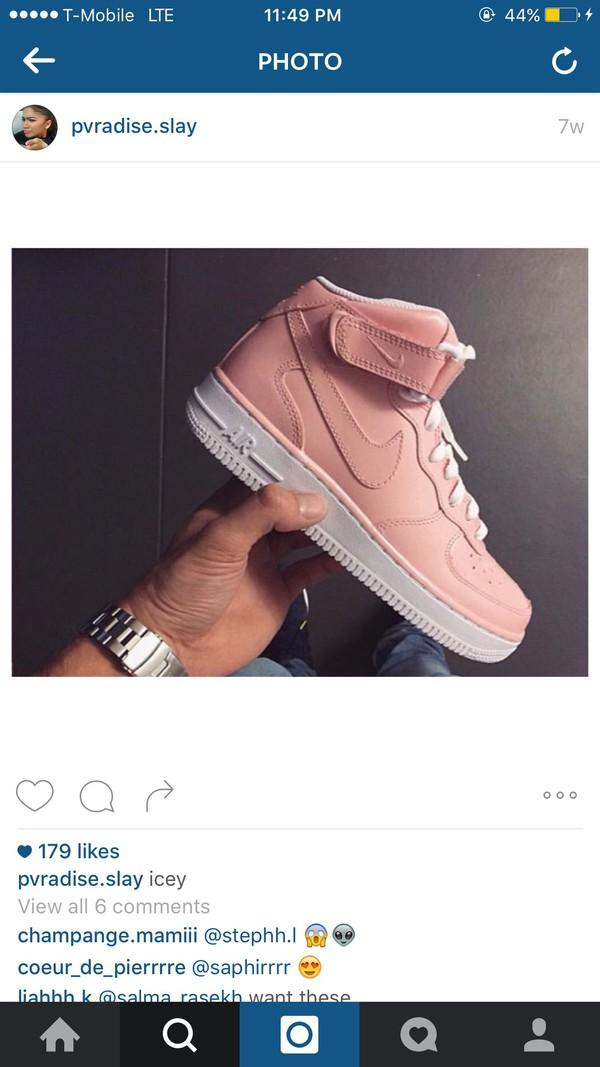 mens nike air force 1 gold pink