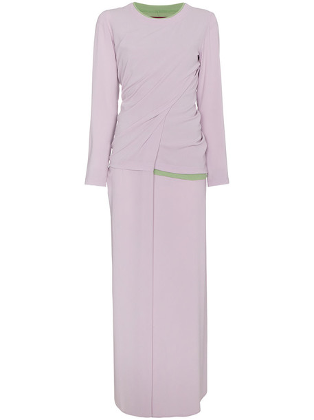SIES MARJAN dress women cotton purple pink