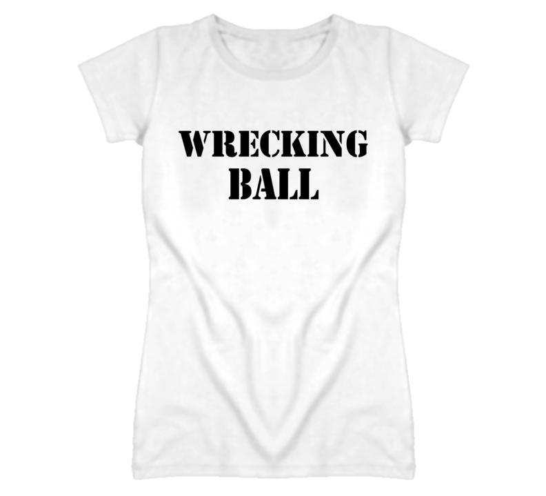 Miley Cyrus Wrecking Ball Army Stencil T Shirt