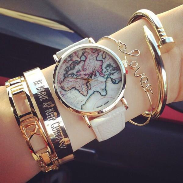 jewels map world bracelets stacked bracelets cuff bracelet gold bracelet jewelry