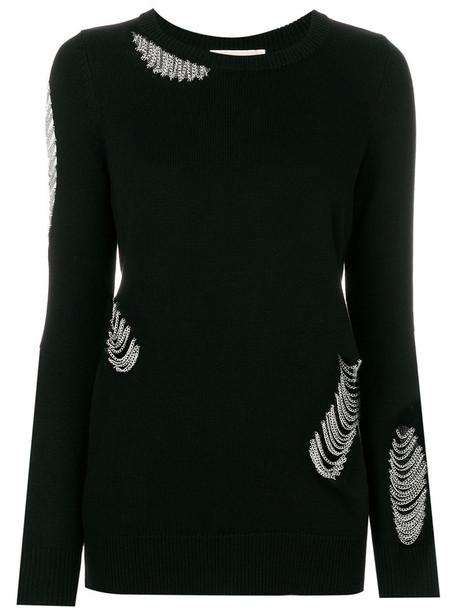 sweater women embellished black