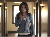 jacket,lucy hale,pretty little liars,aria montgomery,aria,outfit,style,polka dots