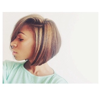 hairstyles beauty black girl mint black_people haircut bob beautiful black people black people highlights