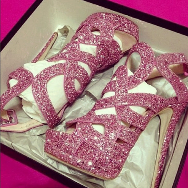 shoes glitter shoes pink high heels party shoes heels pink sparkle homecoming prom sparkle platform shoes