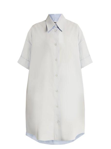 Mm6 Maison Margiela shirtdress cotton blue dress