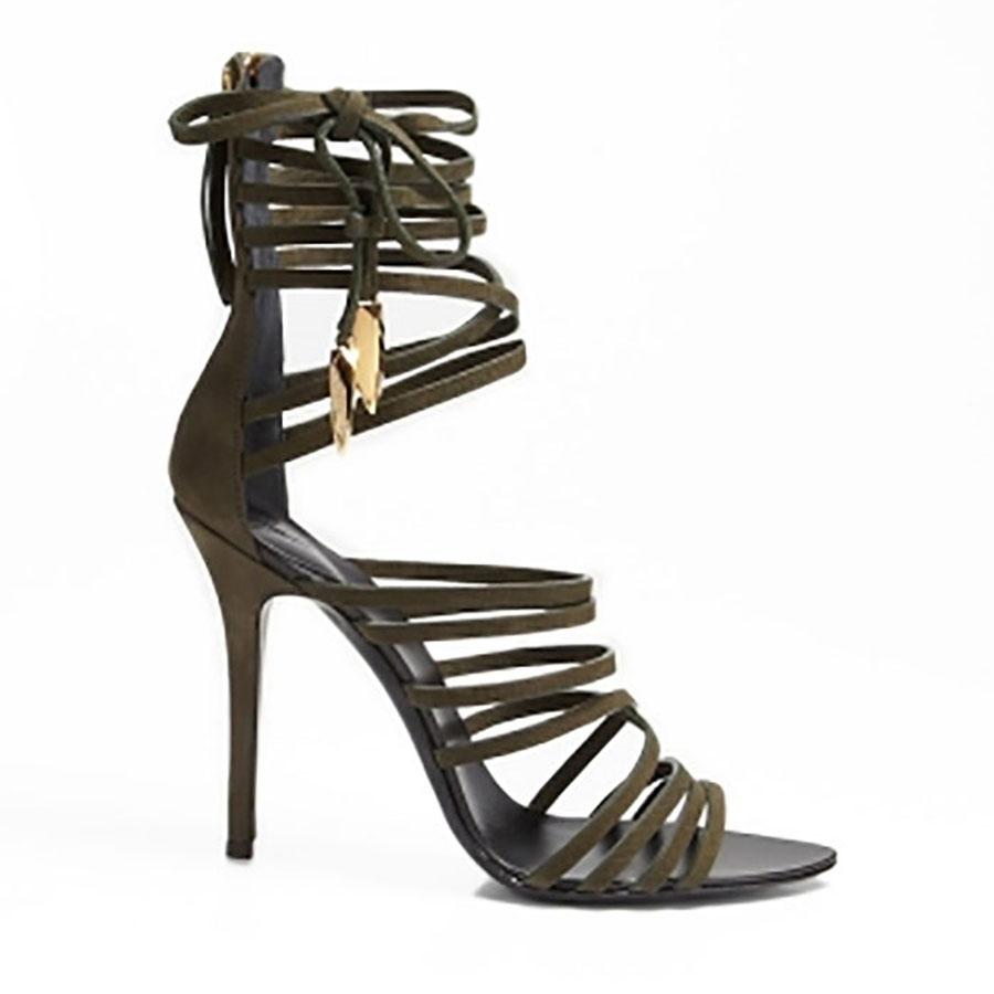 Giuseppe zanotti olive sandals