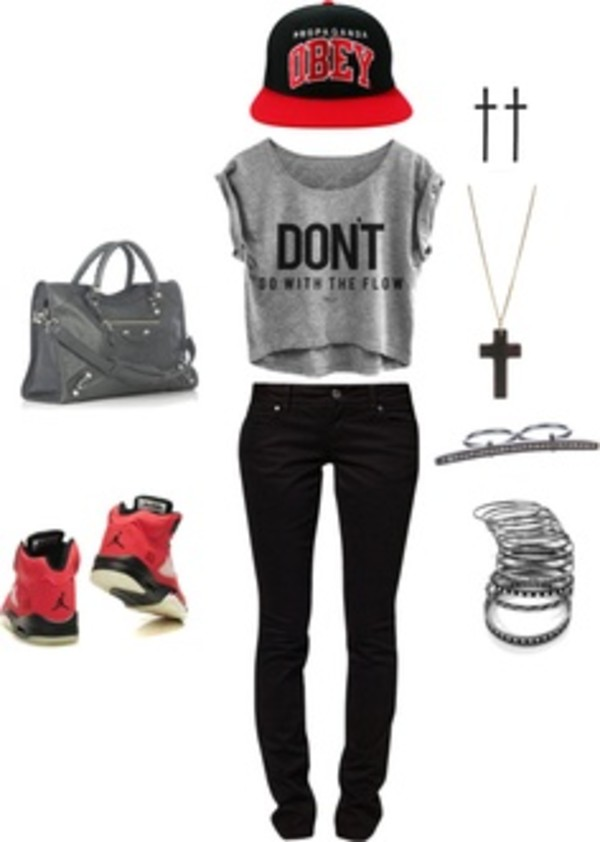 t-shirt jeans bag hat shoes shirt blouse jordans purse cross earring cross necklace bracelets obey obey crop tops dress shorts