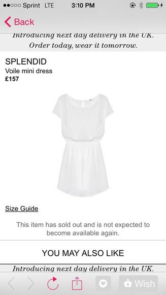 mini dress white dress white