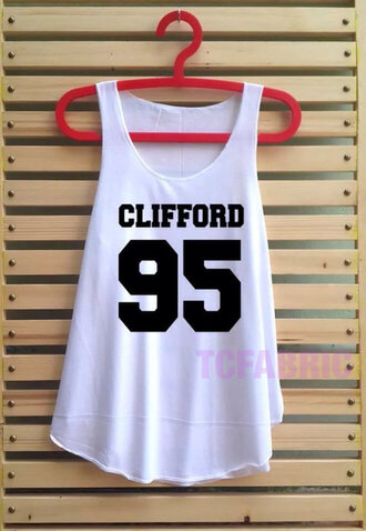 5 seconds of summer michael clifford tank top celebrity 5sos tees white tank top