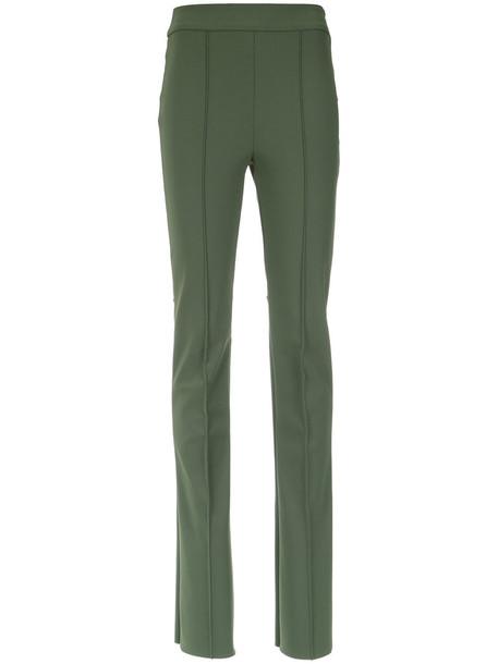 Gloria Coelho high women spandex green pants