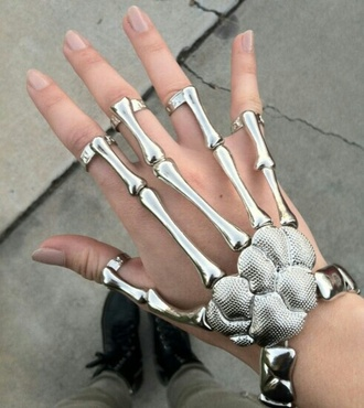 jewels cool bones hand silver