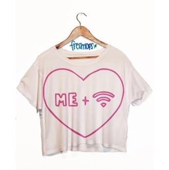 crop shirt wifi freshtops t-shirt shirt crop tops crop