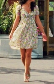dress,vanessa hudgens,colorful,floral dress,summer dress