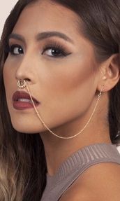 jewels,fake septums,septum chains,septum nose chain,fake septuma