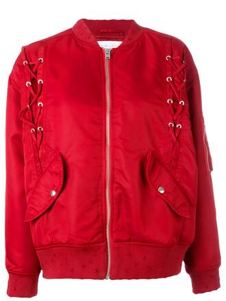 jacket bomber jacket women red