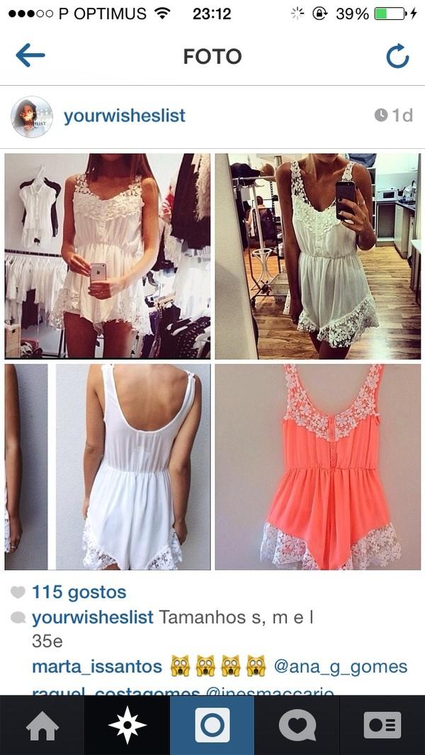 dress jumpsuit white lace shorts lace