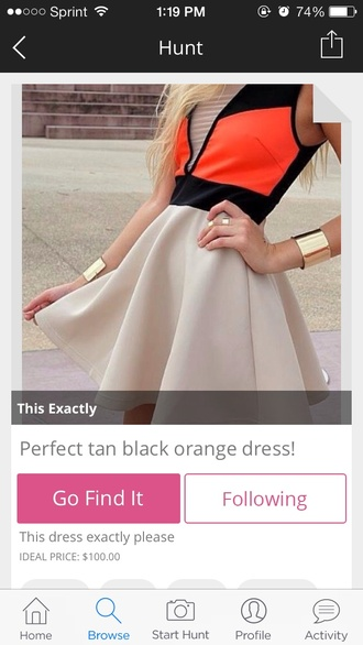dress colorblock skater dress cut-out party dress sexy girly