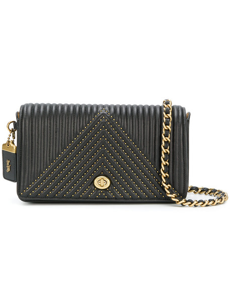 coach women quilted bag black