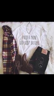 shirt,white graphic phone battery shirtrtt