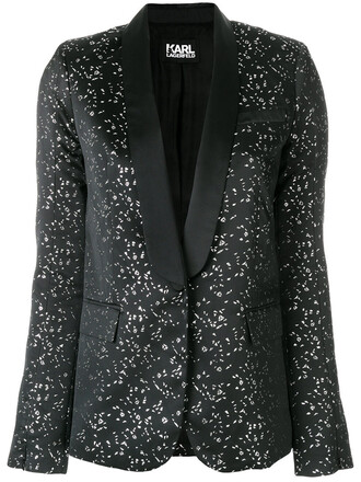 blazer women jacquard black jacket