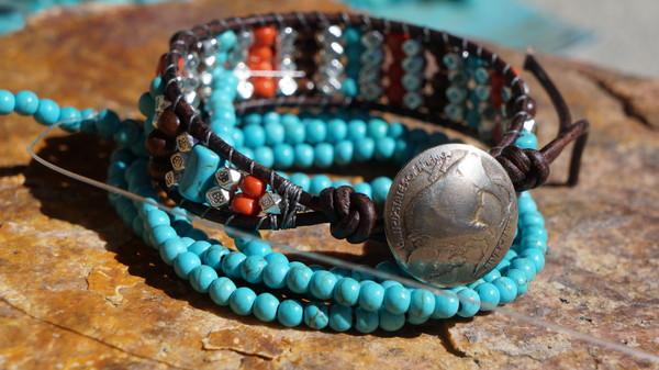 jewels leather cuff bracelet