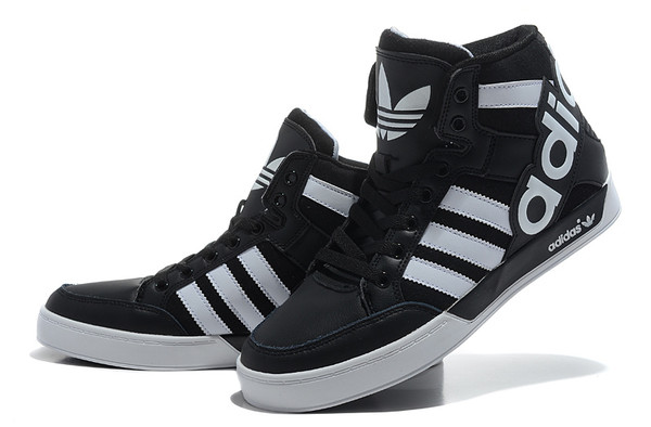 adidas originals mens womens hard court hi big logo mid shoes black white. Black Bedroom Furniture Sets. Home Design Ideas
