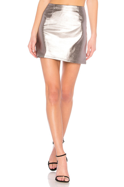 Lovers + Friends skirt back metallic silver
