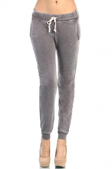 LoveMelrose.com From Harry & Molly | Gray Track Pants Skinny