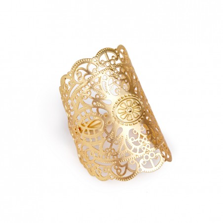 Sole Society - Lace Oversized Ring - Gold