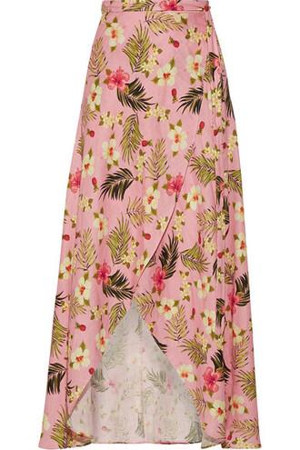 skirt maxi skirt wrap maxi skirt maxi baby pink baby pink